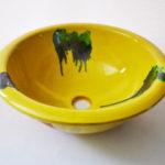 Lavabo cerámica artesanal amarillo