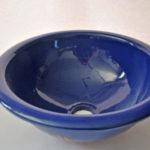 Lavabo cerámica realizado a mano de color azul
