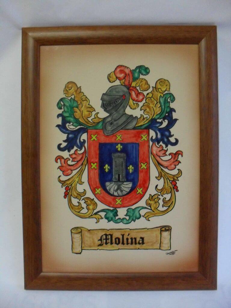Escudo heráldico enmarcado