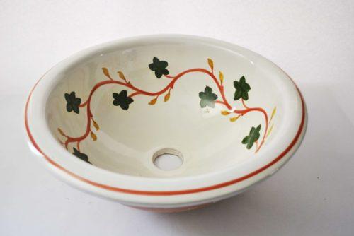 Lavabo de ceramica greca rojo/verde
