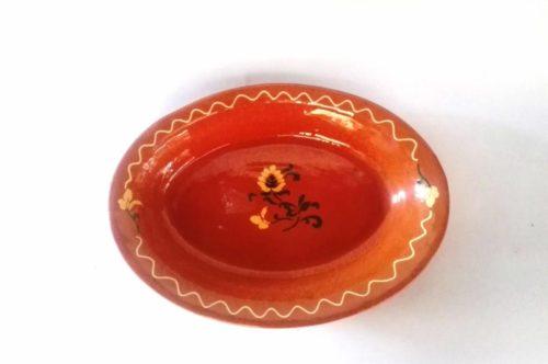 Bandeja Ovala honda Caramelo Flor