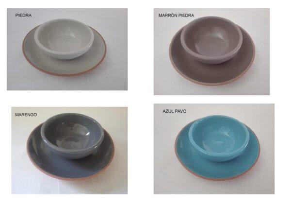 Vajilllas de diferentes colores