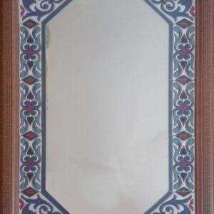 Espejo artesanal de cerámica alargado