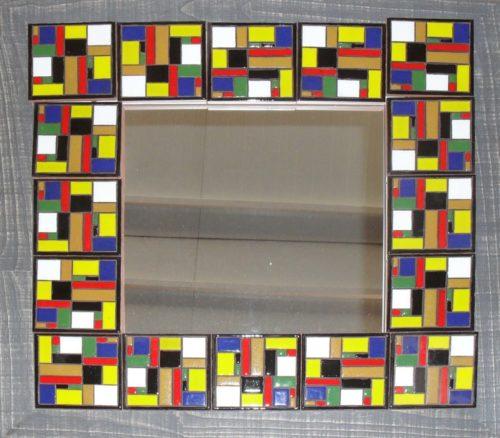 Espejo de cerámica artesanal