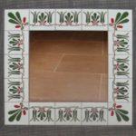 Espejo cerámica decorativa