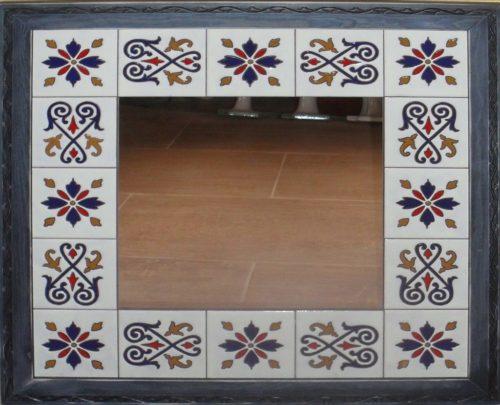Espejo realizado con cuerda seca