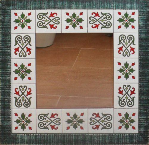 Espejo de azulejos