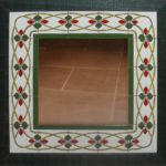 Espejo con marco de cerámica