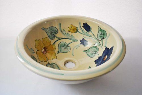 Lavabo de cerámica artesanal