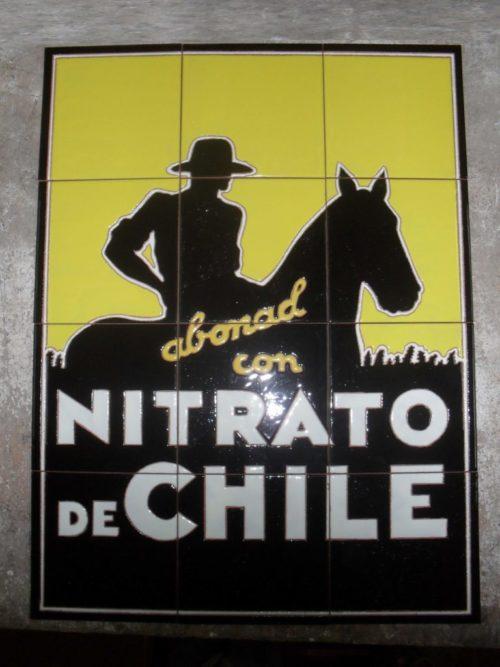 Nitrato de Chile cartel de azulejos