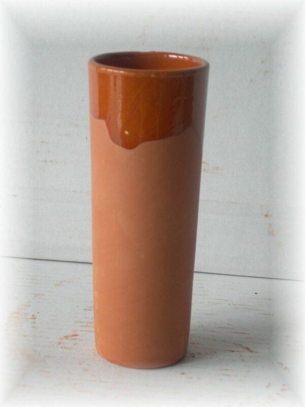 Vaso de tubo de barro
