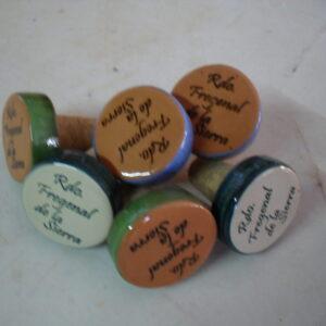 Tapón de vino personalizado de cerámica