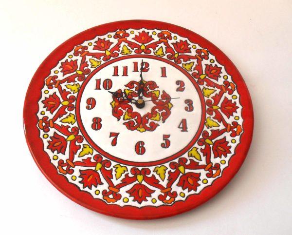 Reloj de cocina rojo